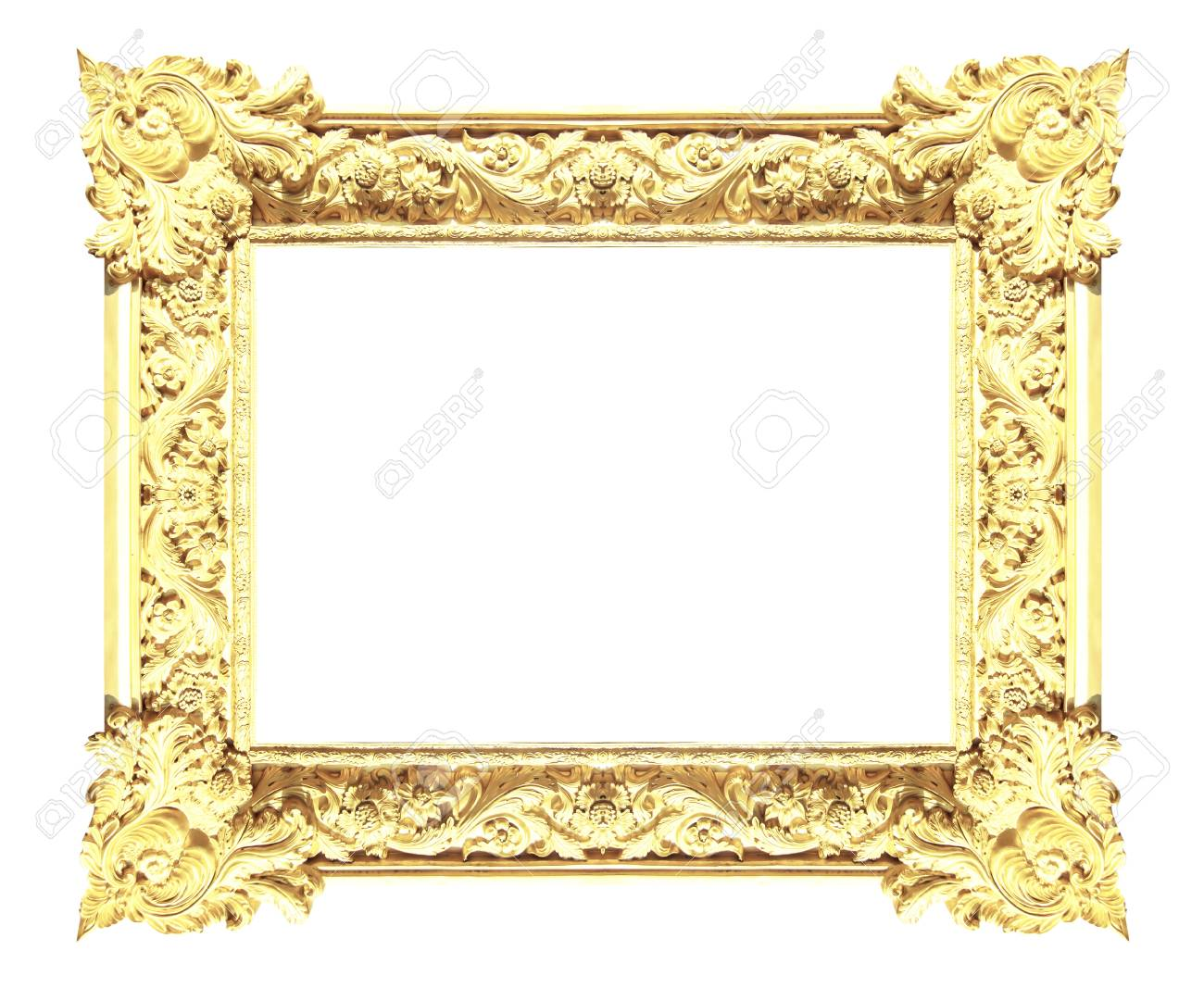 12ade67e180 Picture Gold Frames Isolated On White Background Stock Photo