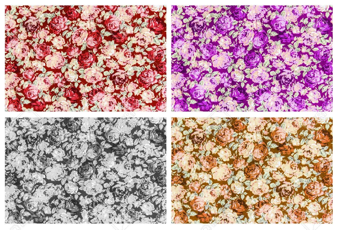 Sfondo E Frammento Rosa 4 Marrone Rosso Tessuto Porpora Grigio Set