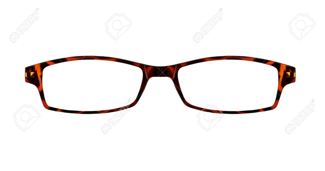 Braune Gläser Isoliert Auf Weiß Mit Clipping-Pfade Für Die Fassungen ...