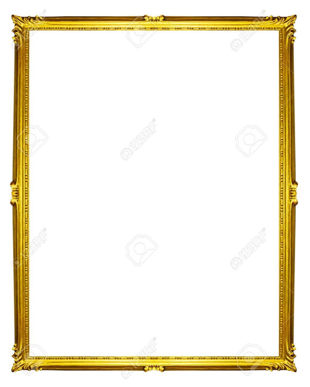 golden frame isolated on white background - 41965802