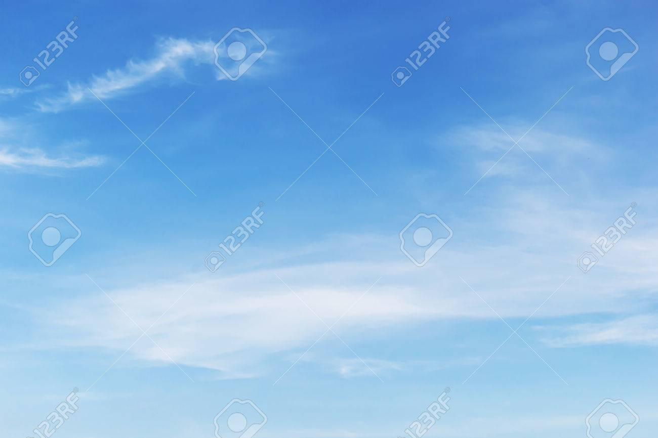 Fantastic soft white clouds against blue sky background. - 46810947
