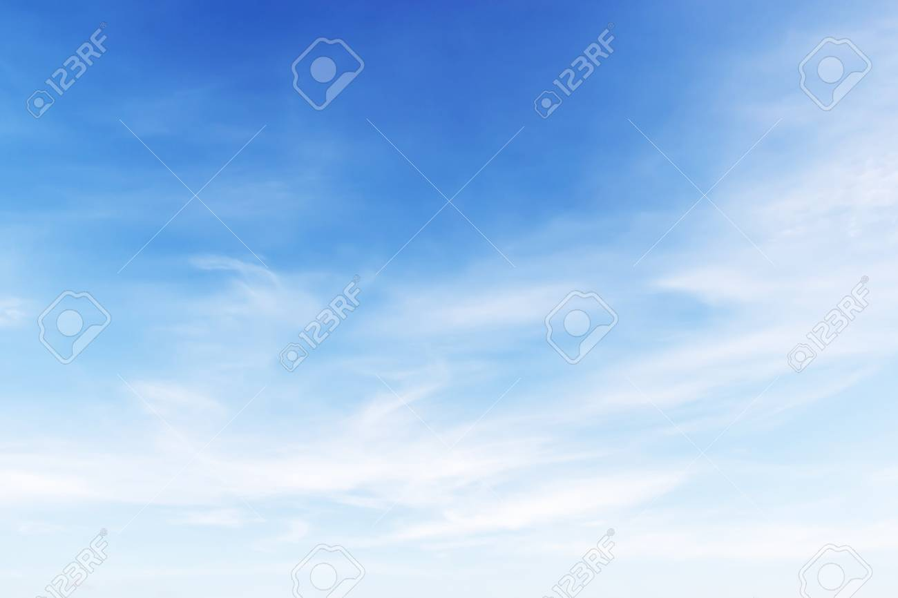 Fantastic soft white clouds against blue sky background. - 46810948