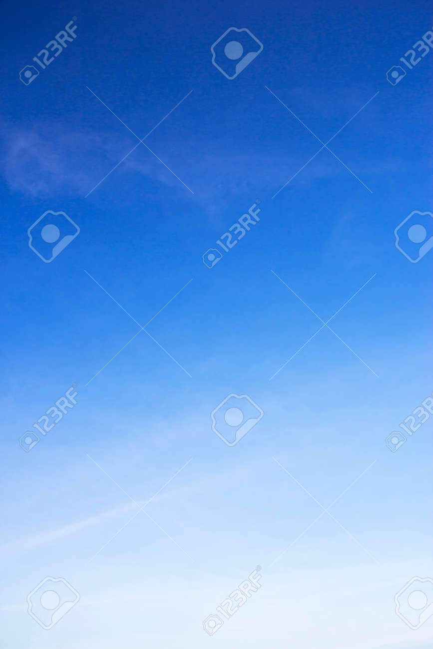 Blue sky background and white clouds soft focus, and copy space. - 121843273