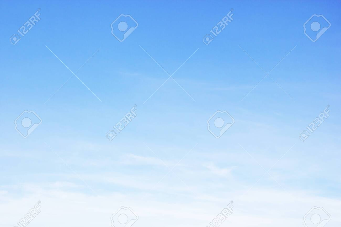 Fantastic soft white clouds against blue sky and copy space - 135625441