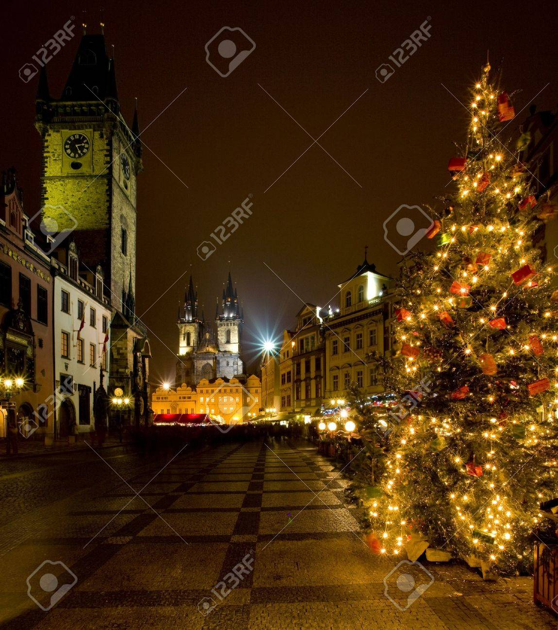 Old Town Square at Christmas, Prague, Czech Republic Stock Photo - 7502774