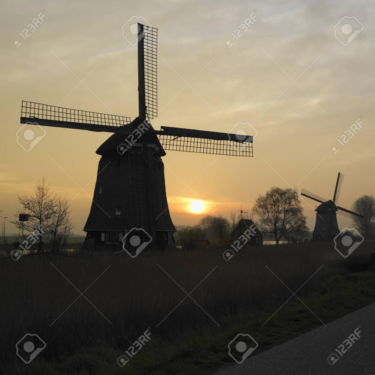 windmills near Rustenburg, Netherlands Stock Photo - 8694753