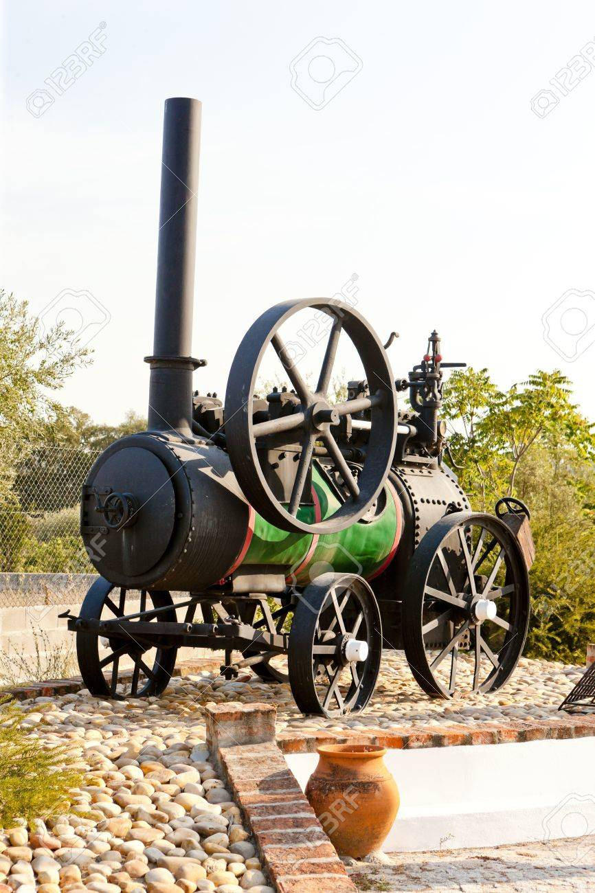 traction engine, Carregueira, Portugal Stock Photo - 10825016