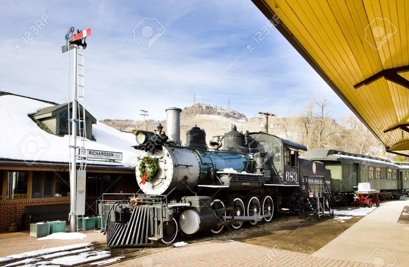 stem locomotive in Colorado Railroad Museum, USA Stock Photo - 12092438