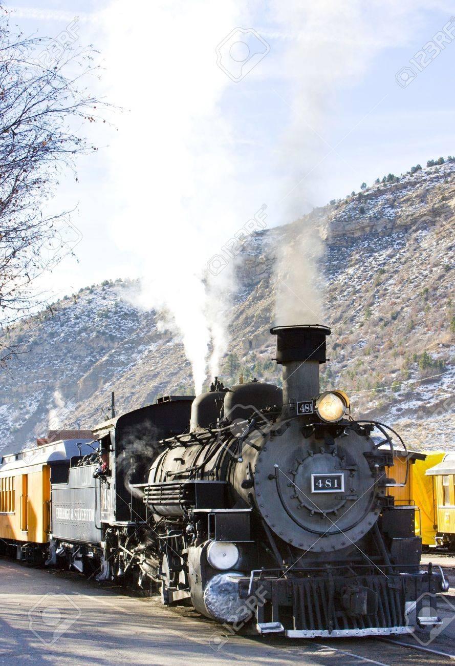 Durango   Silverton Narrow Gauge Railroad, Colorado, USA Stock Photo - 13182445
