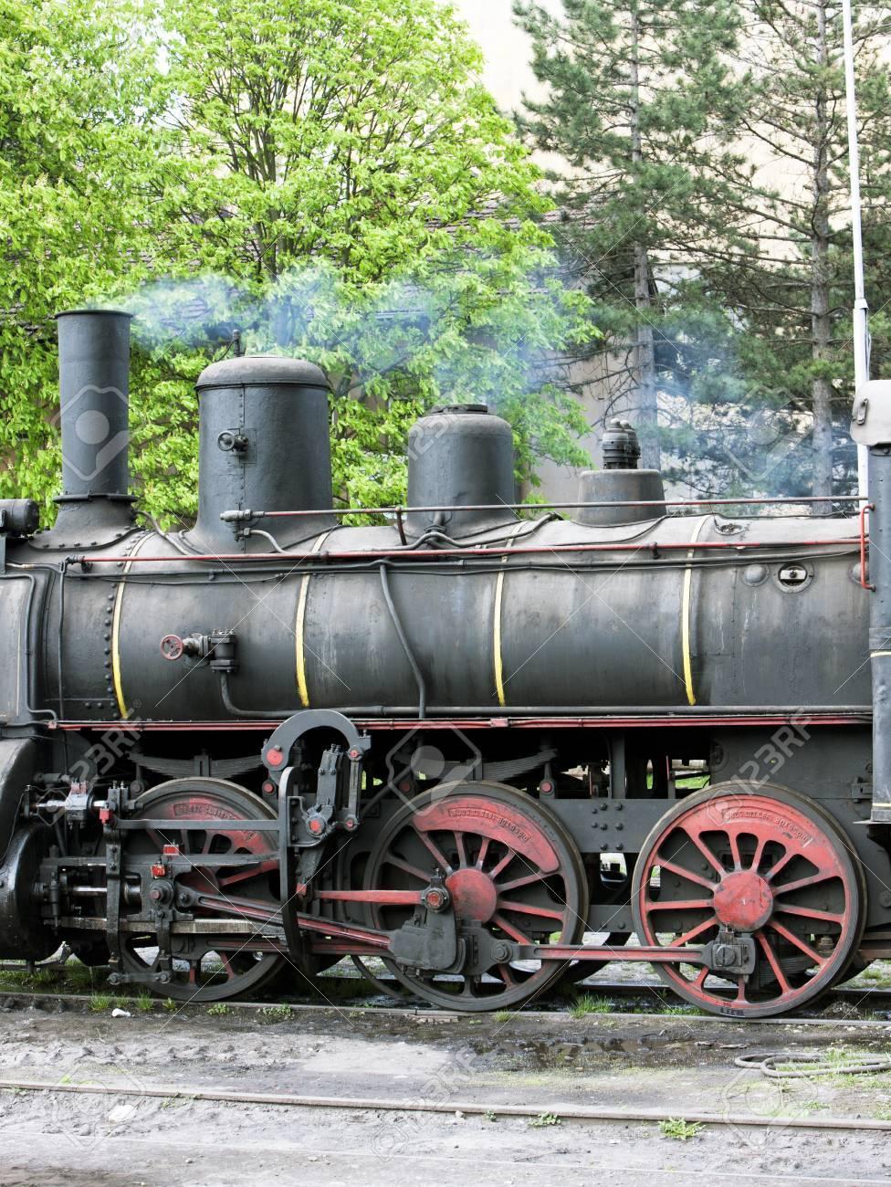 detail of steam locomotive (126.014), Resavica, Serbia Stock Photo - 15524321