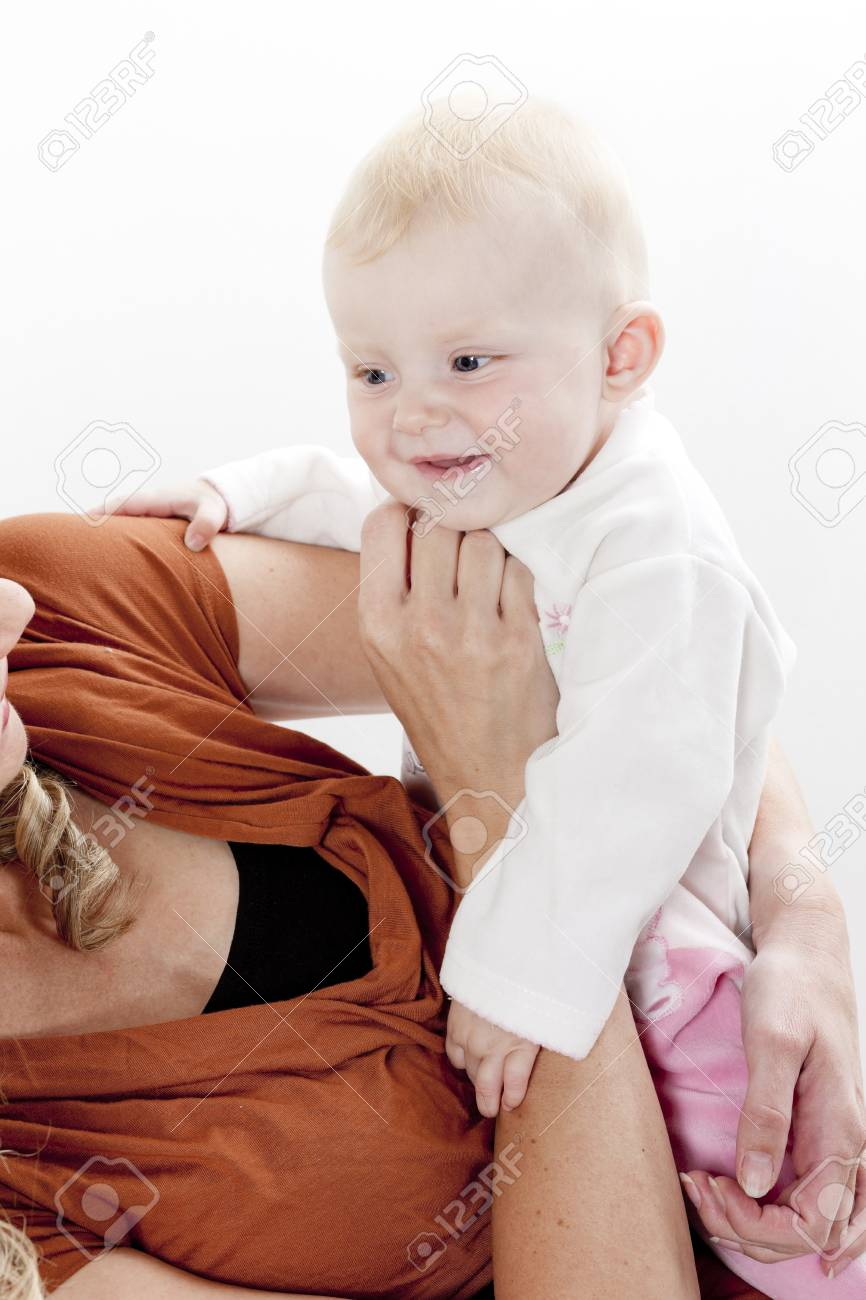 portrait of mother with her baby Stock Photo - 15466731