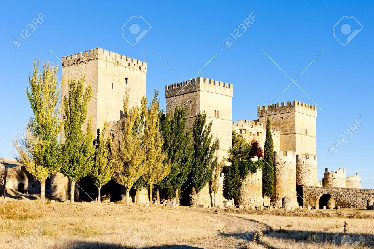 Castle of Ampudia, Castile and Leon, Spain Stock Photo - 15650233
