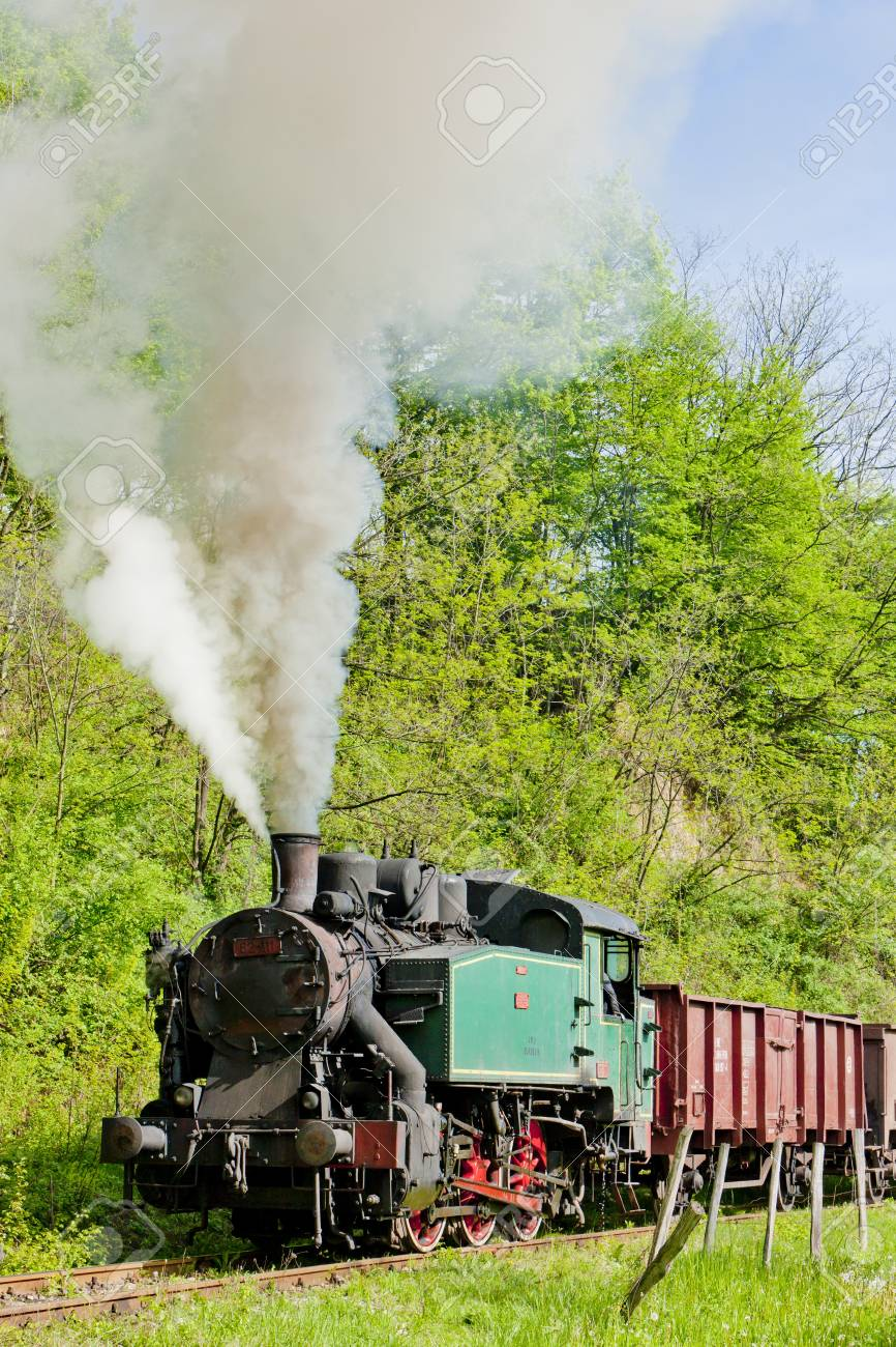 steam freight train, Durdevik, Bosnia and Hercegovina Stock Photo - 18645593