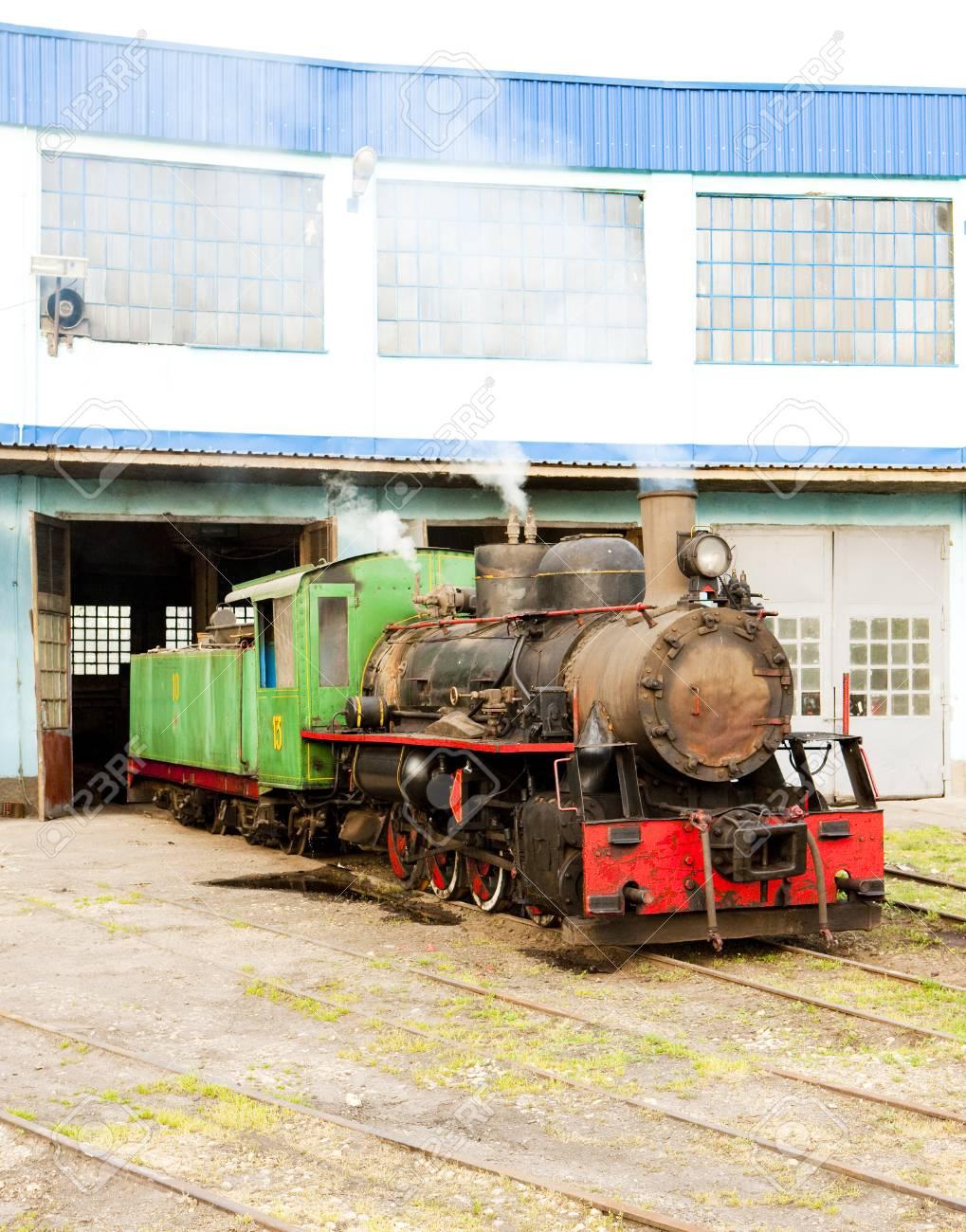 steam locomotive in depot, Kostolac, Serbia Stock Photo - 26217522