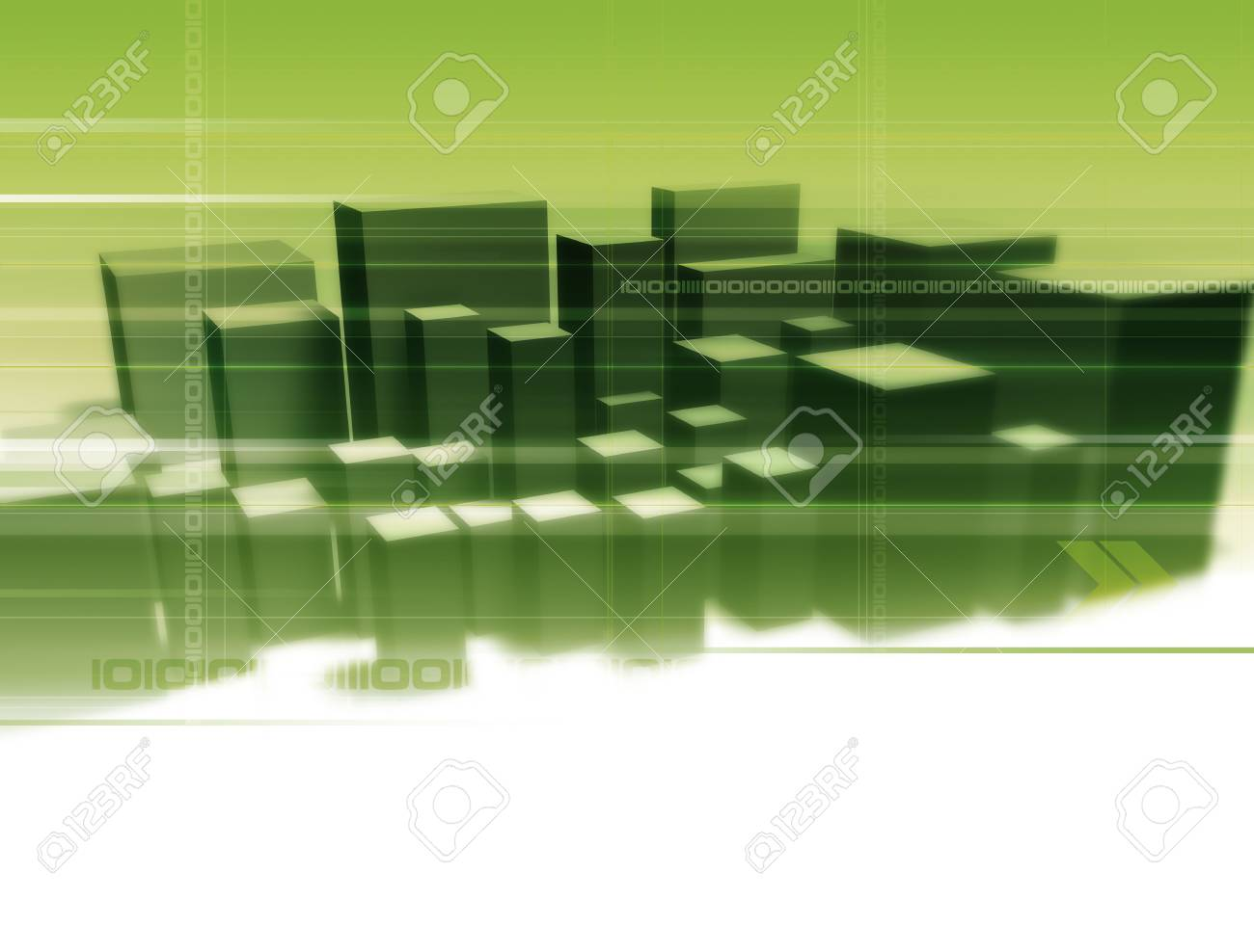 Illustration and 3D-Rendering of an abstract city. Stock Photo - 922647