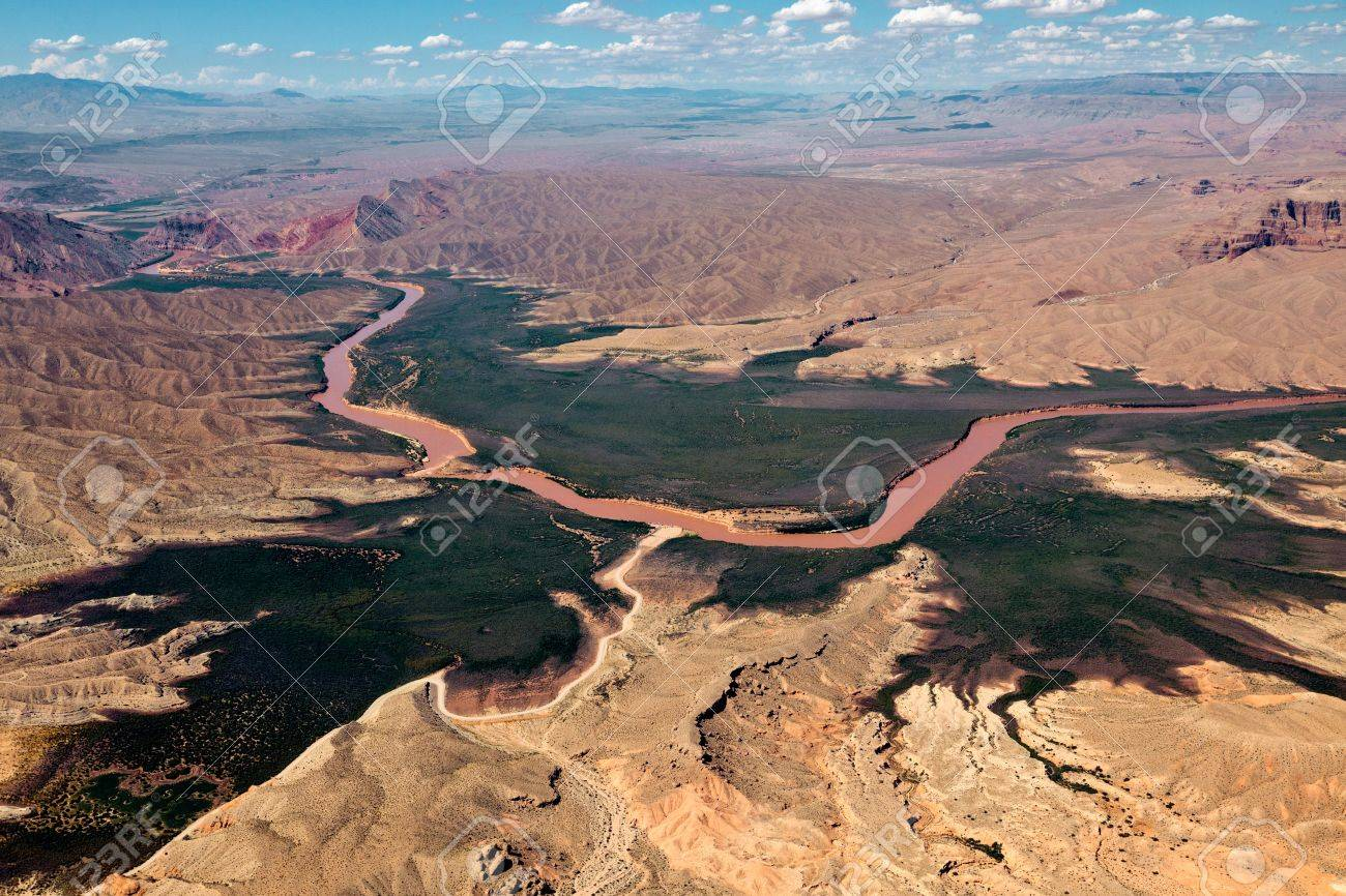 Aerial view of the Colorado River Stock Photo - 10511947