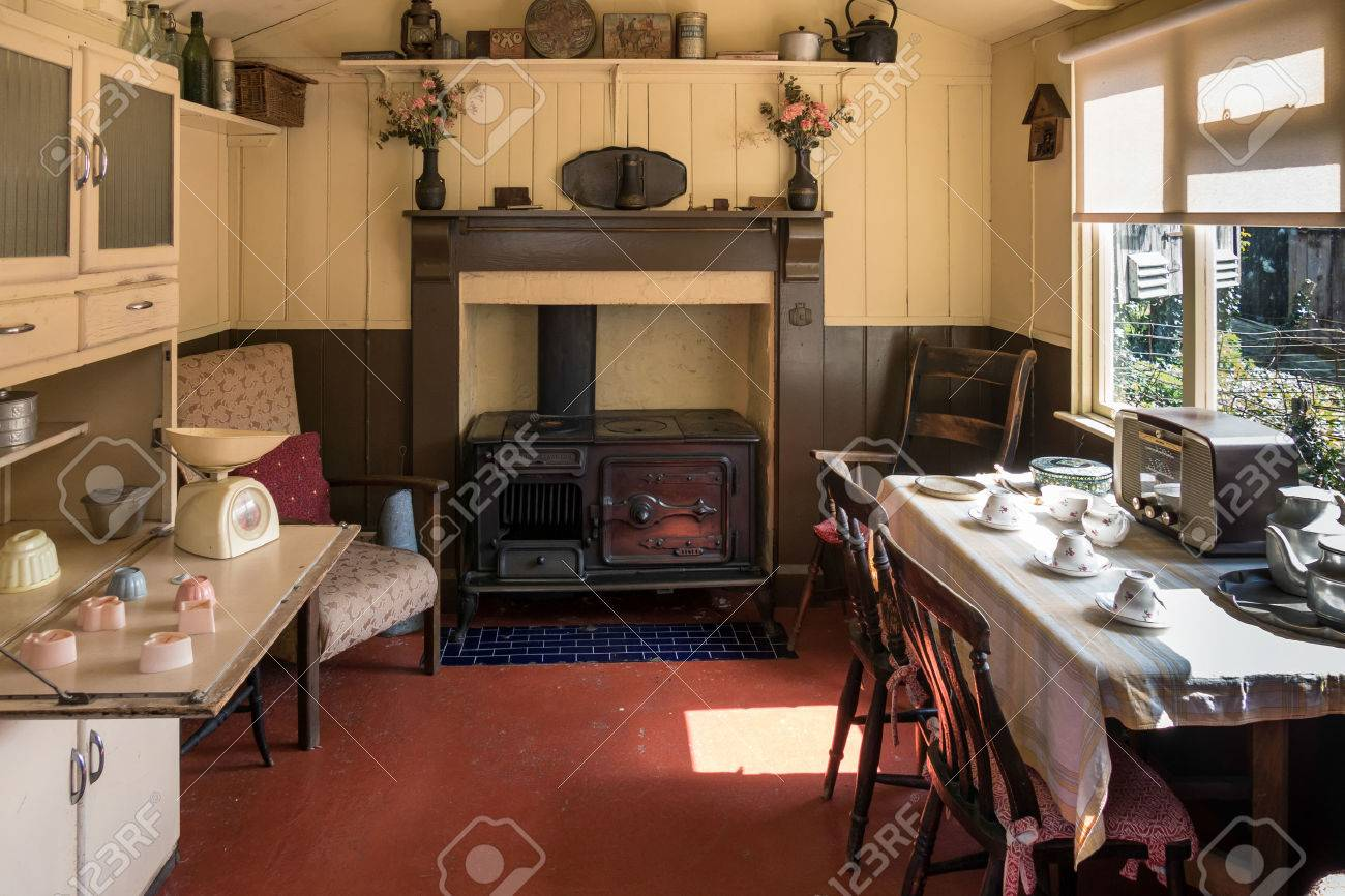 Interior of a living shed at st fagans national history museum stock photo 39116699