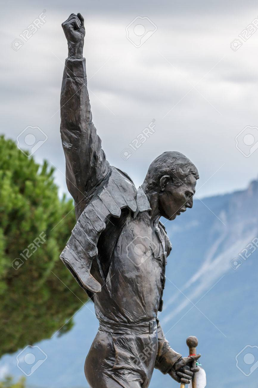 statue of freddie mercury in montreux stock photo picture and