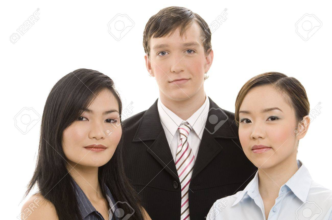 A mixed group of young professional business people Stock Photo - 246072