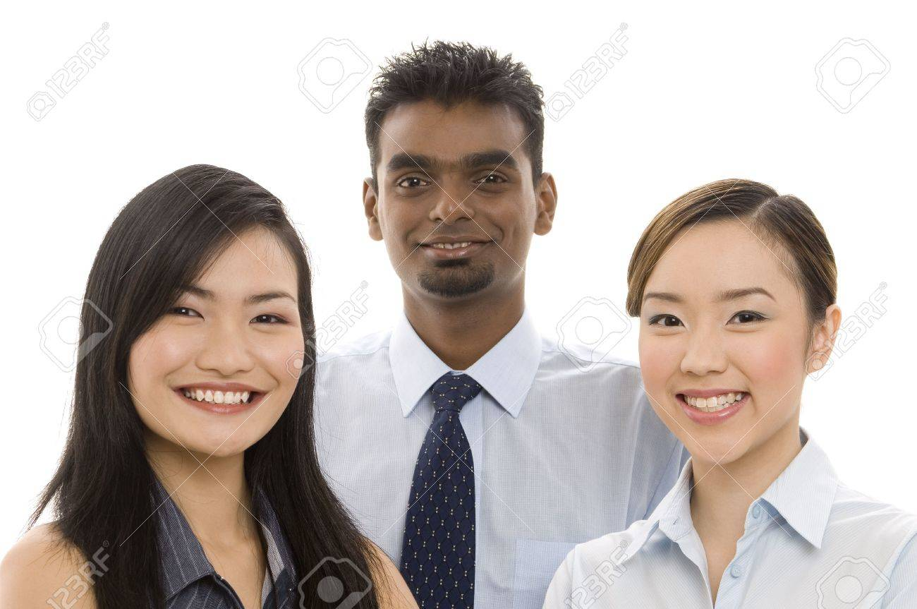 A diverse group of smiling professionals Stock Photo - 246075