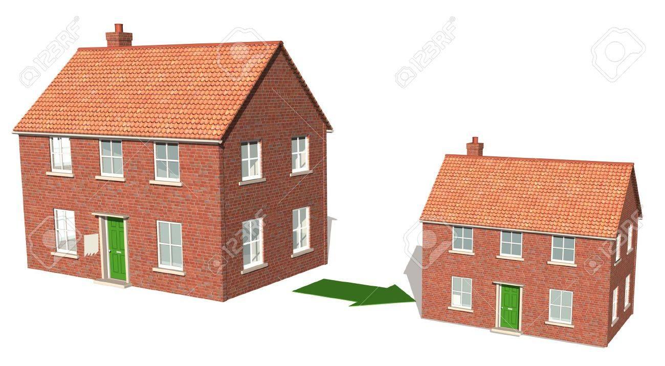 Downsizing property Stock Photo - 12330235