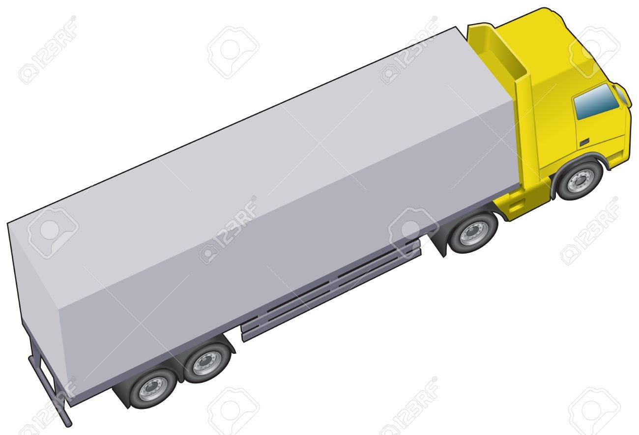 Longer articulated lorry or truck Stock Vector - 12495498