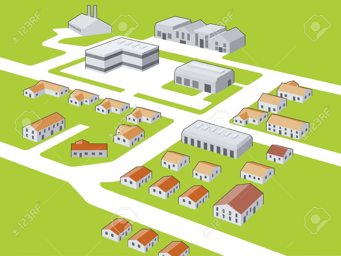 Generic township Stock Vector - 13477028