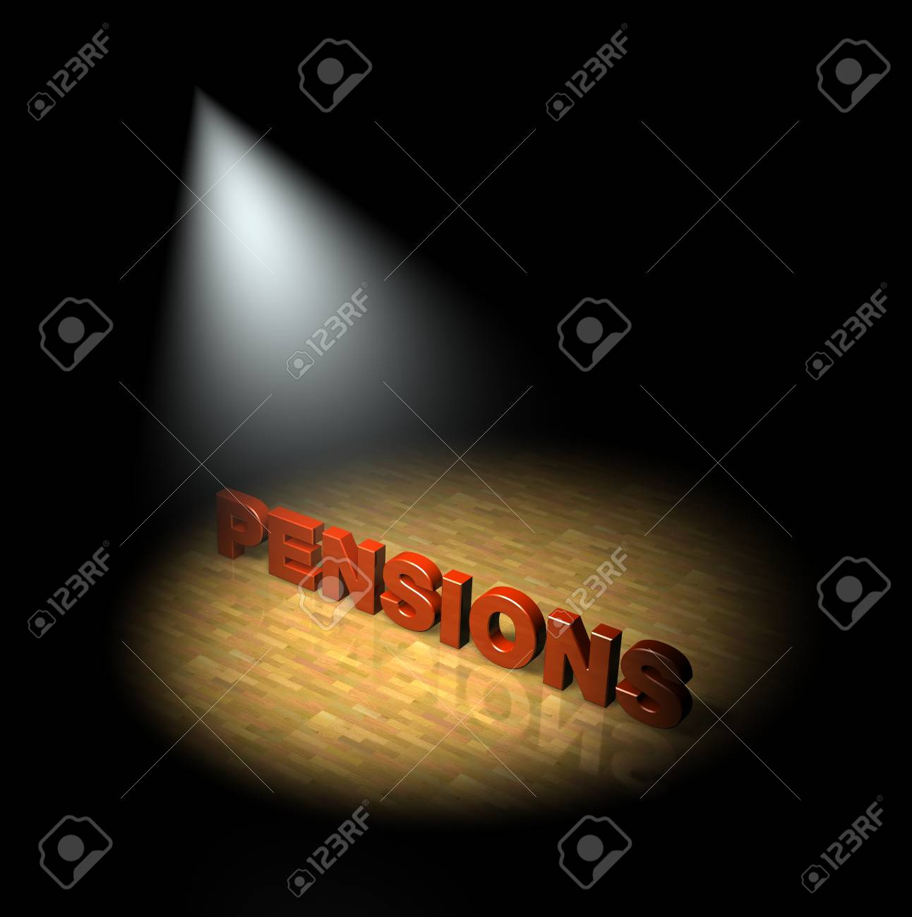 Spotlight on pensions Stock Photo - 13477060
