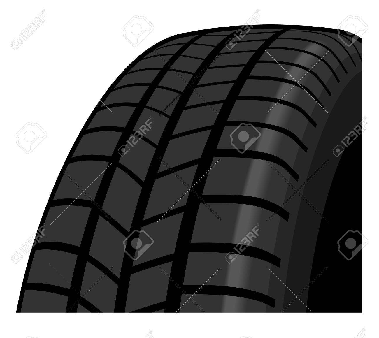 Tyre detail showing tread pattern Stock Vector - 13477090