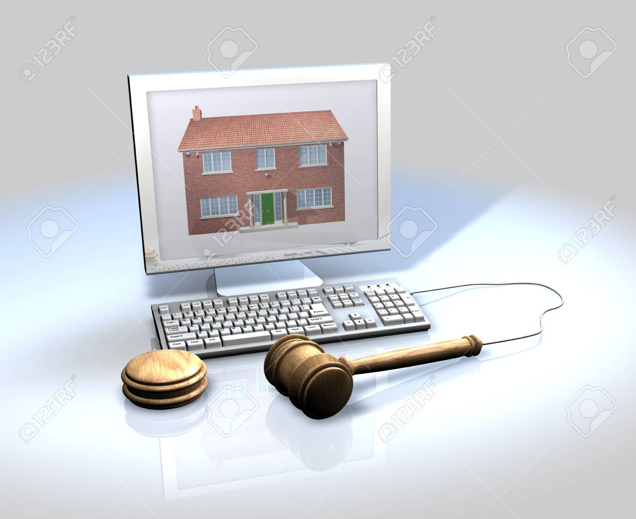 On-line property sales, estate agents, auctions Stock Photo - 13532703