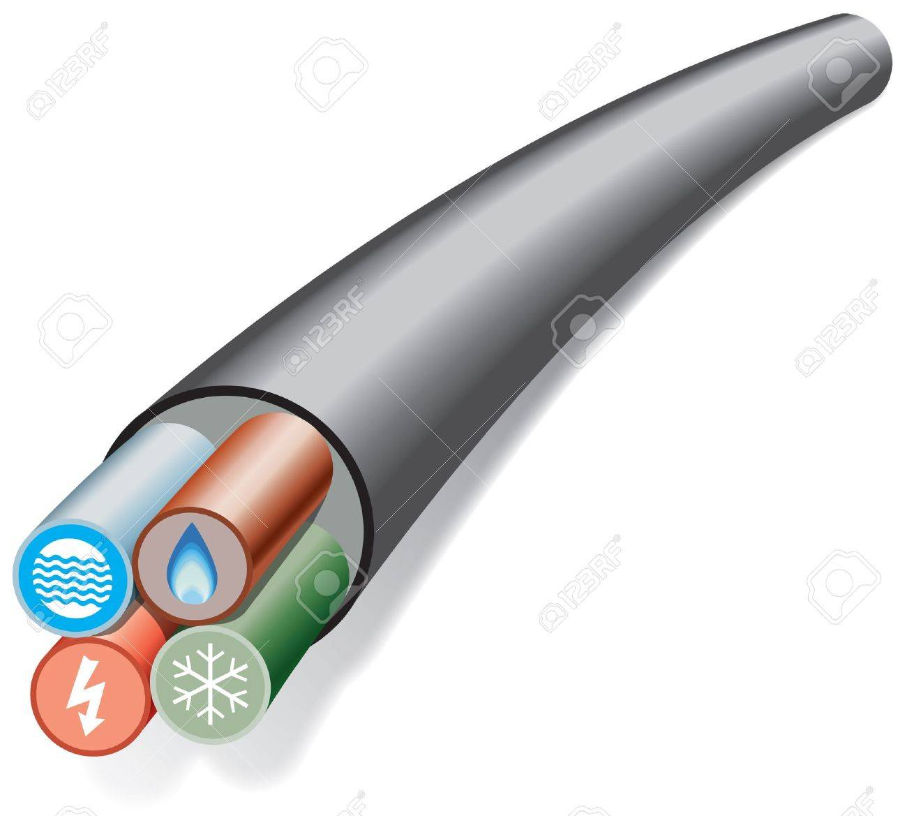 House and office services cable Stock Vector - 13598448
