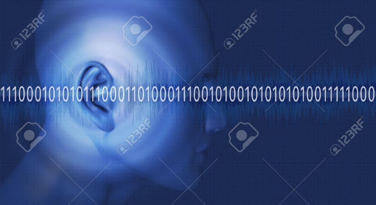 Thinking in binary numbers 1 Stock Photo - 16002103