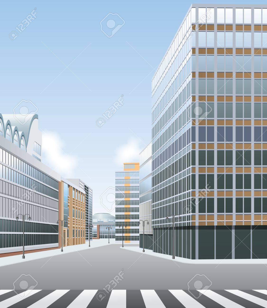 High street, business or shopping centre vector Stock Vector - 16002102