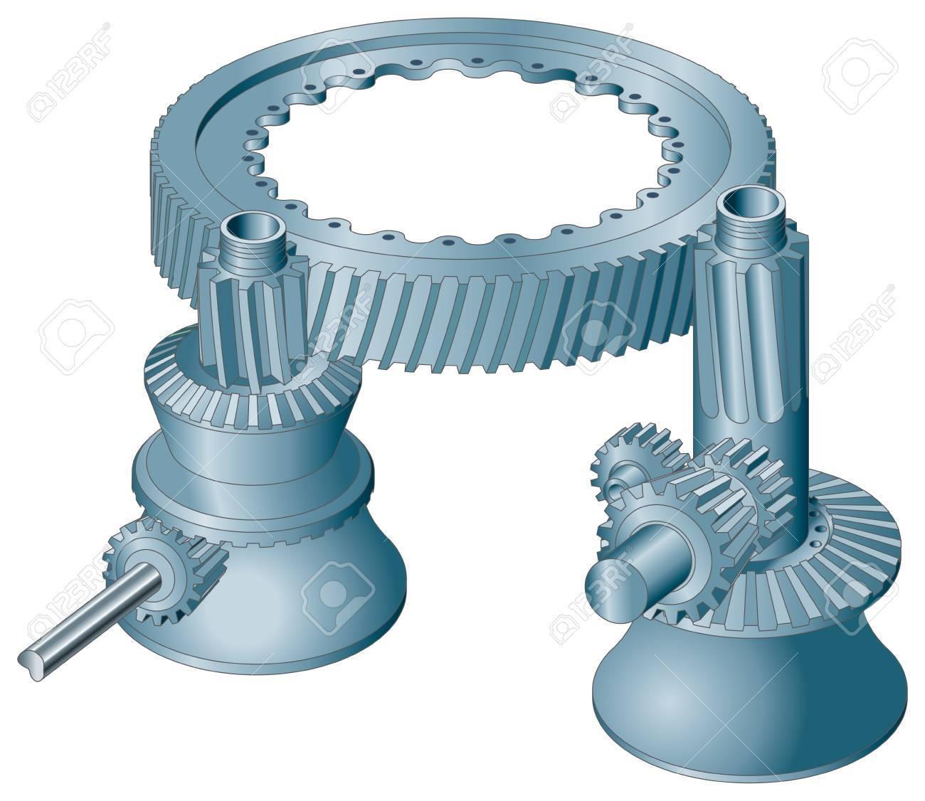 Meshing machine gear wheels cogwheels vector image Stock Vector - 18700216