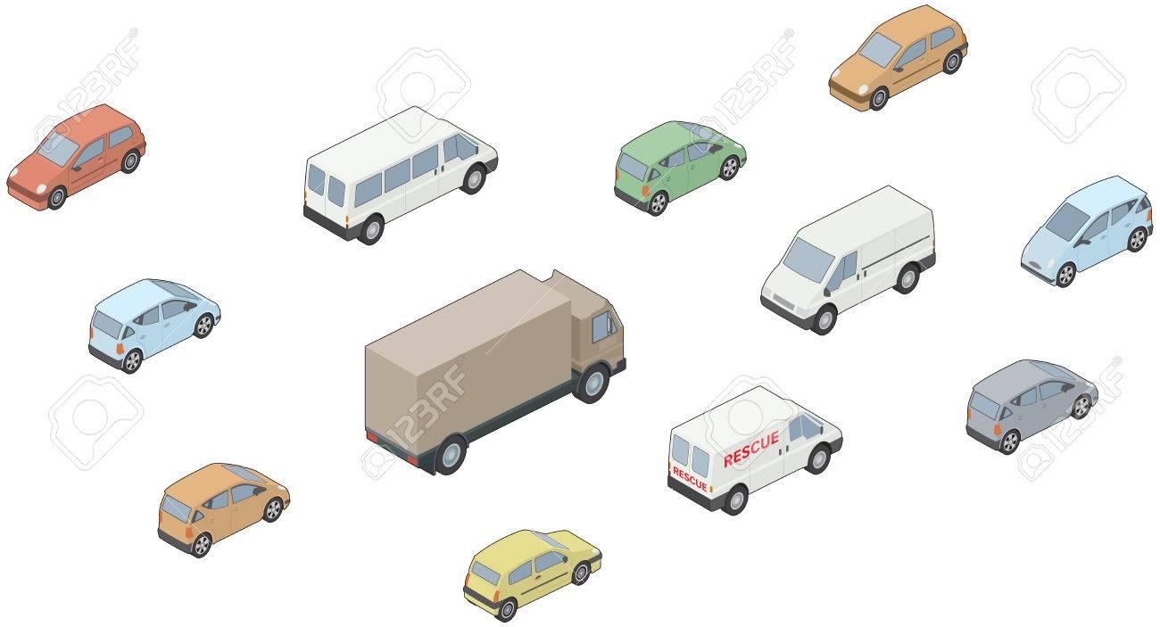Images Of Isometric, 3D Vehicle, Trucks, Cars, Vans Etc Royalty ...