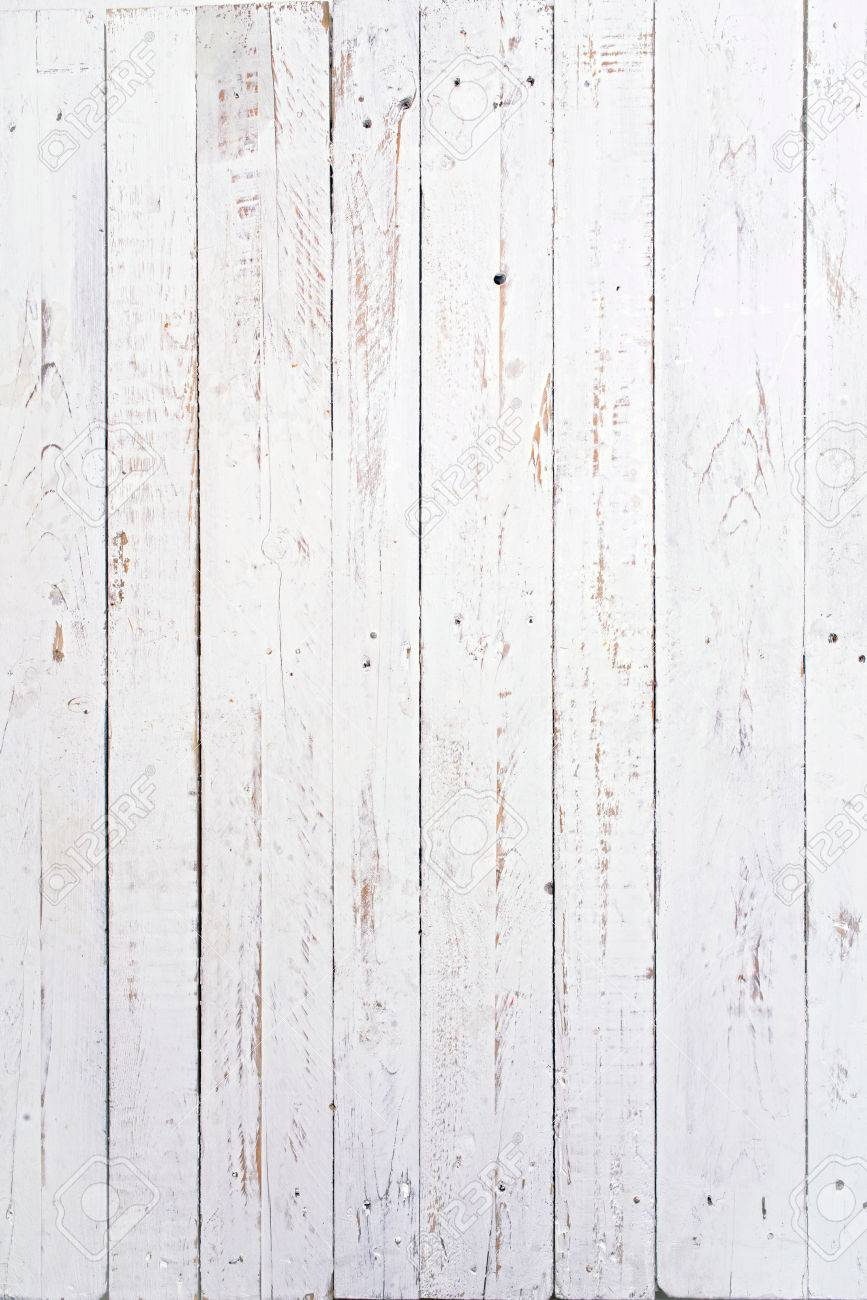 several wooden boards painted white and used - 32262817