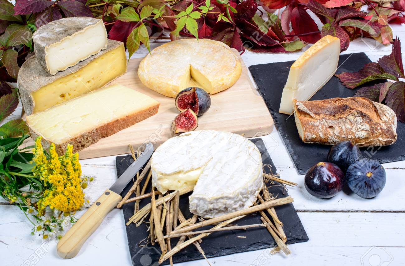 Camembert of Normandy with different French cheeses - 32263628