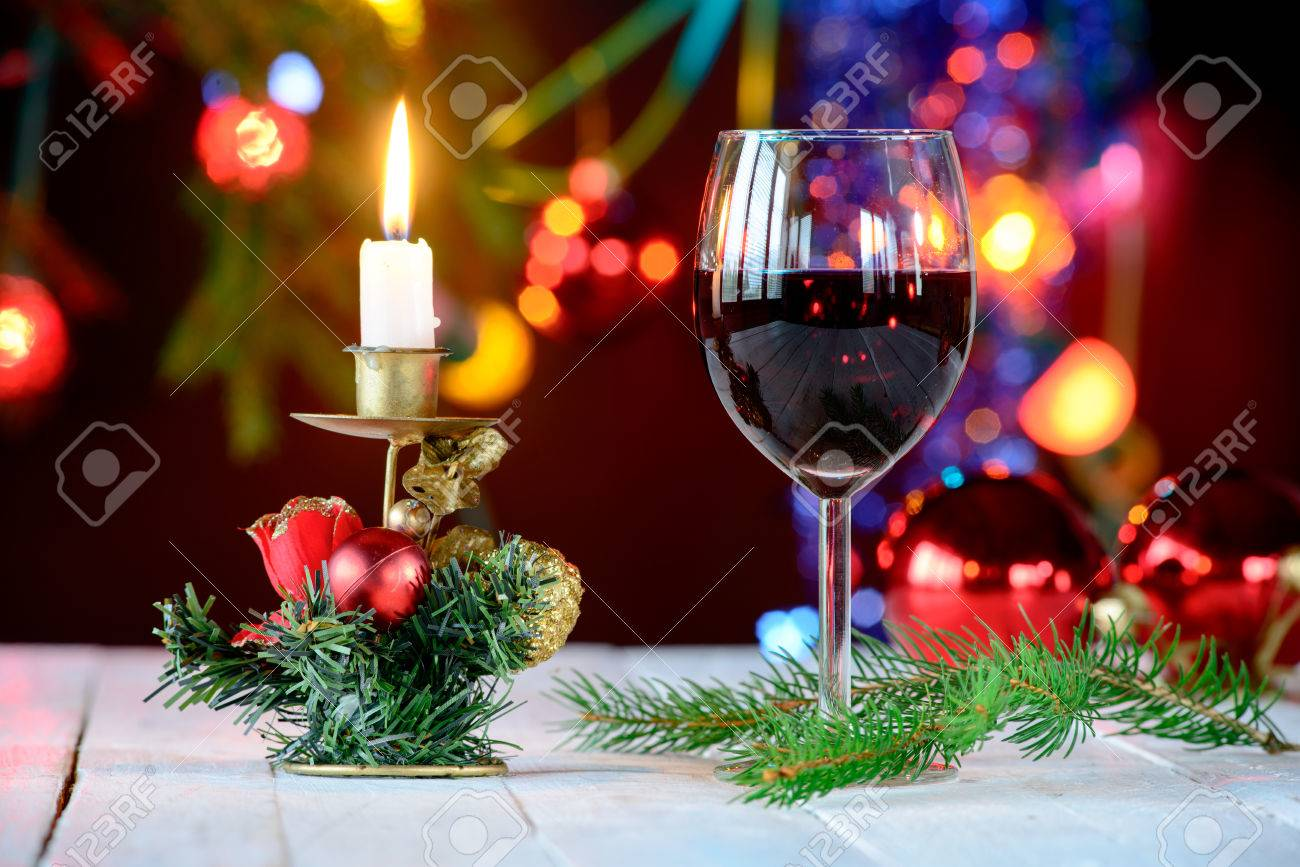 Deco noel avec verre a vin