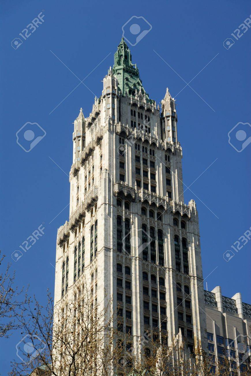 Woolworth Building In Art Deco Style In New York City Stock Photo ...