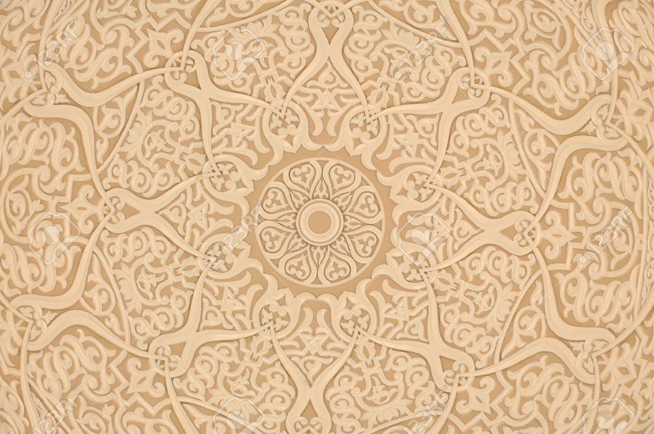 Arrière plan De Décoration Arabe Oriental Banque D'Images Et