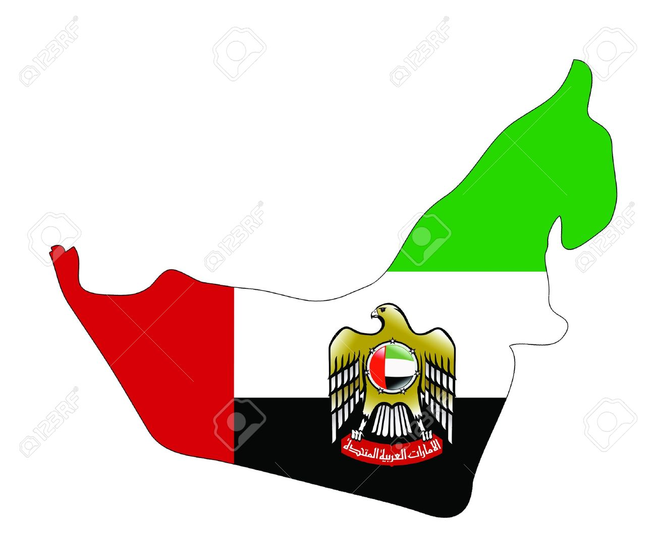 United Arab Emirates Map With Coat Of Arms Photo Picture – Dubai United Arab Emirates Map
