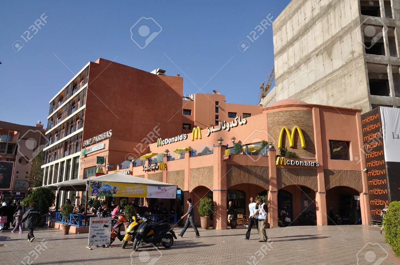 Mc Donalds Ristorante a Marrakech, Marocco. Foto scattata al 22 novembre 2008 Archivio Fotografico - 8038465