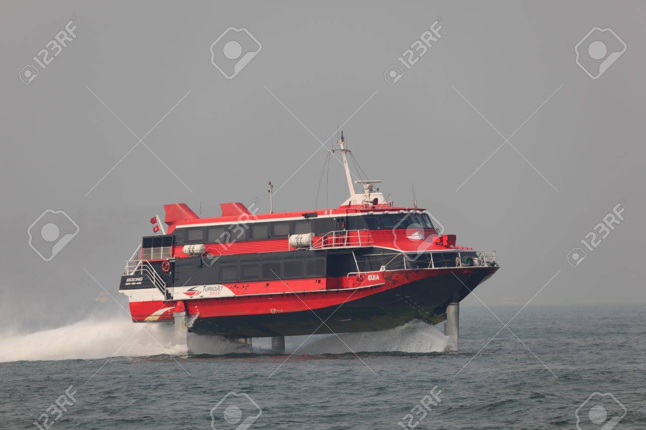 8577407-High-speed-hydrofoil-ferry-boat-