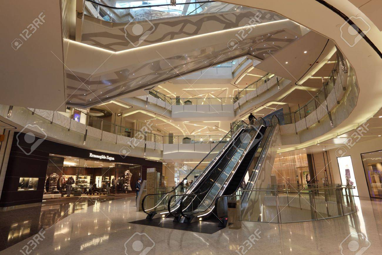 Interior of the IFC Mall in Pudong, Shanghai, China. Photo taken at 21st of November 2010 Stock Photo - 8724336