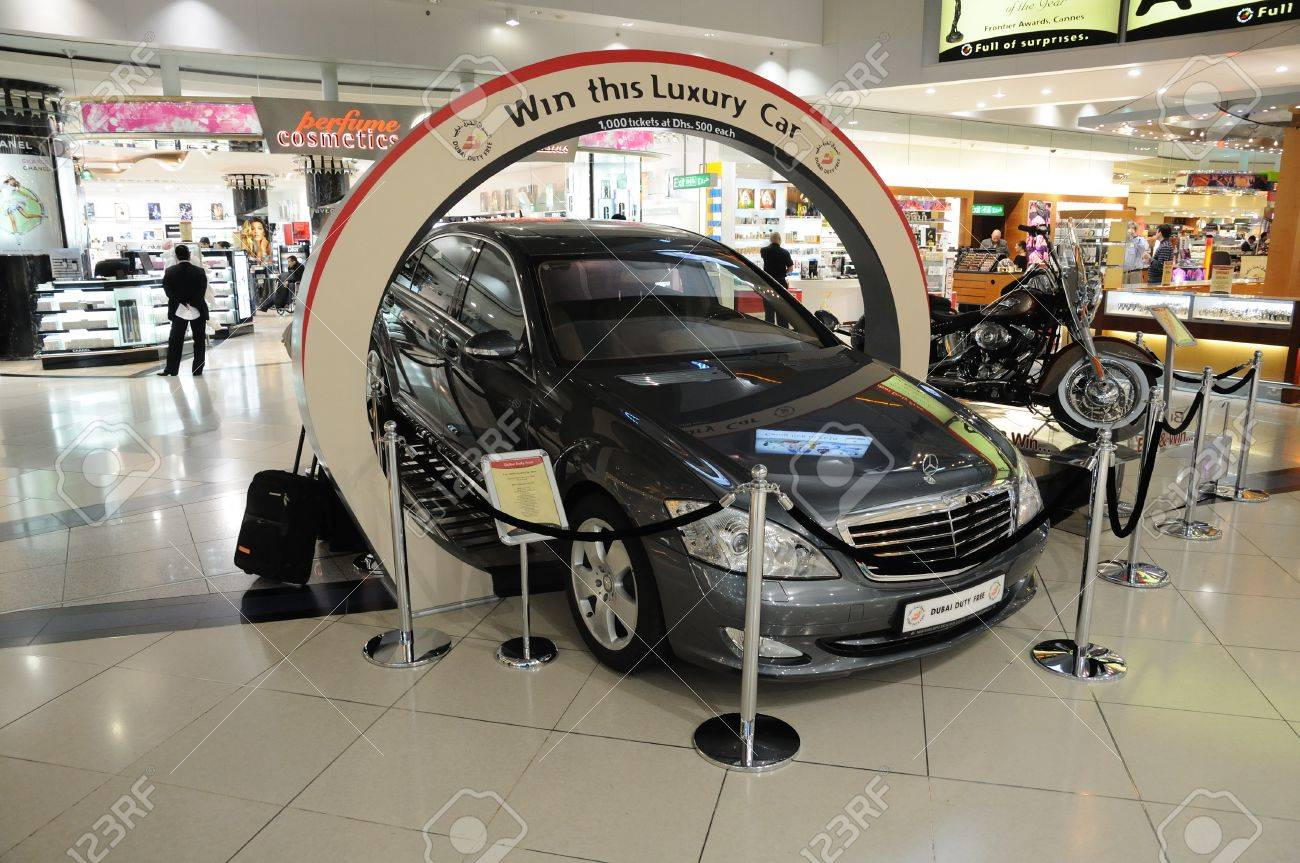 Car Lottery Inside Of The Dubai International Airport Photo Stock