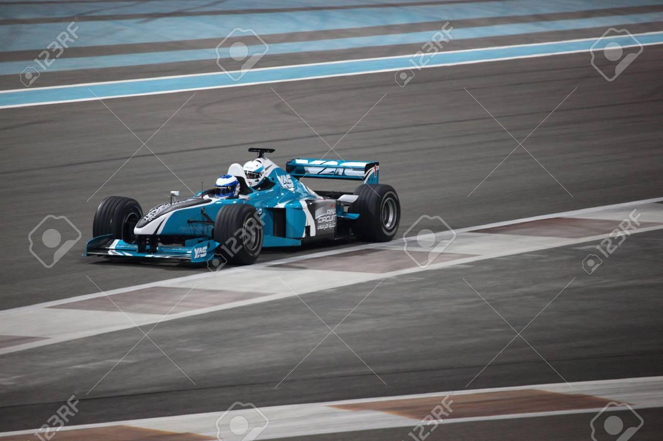 Racing Car at Yas Marina Formula 1 Racing Track in Abu Dhabi. Photo taken at 1st of June 2011 Stock Photo - 9777316
