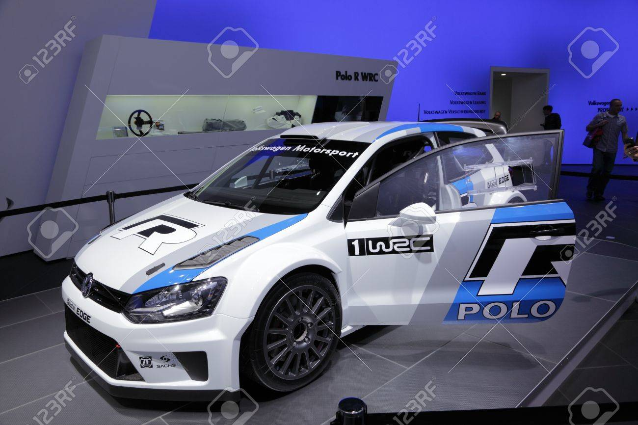 Frankfurt Sept 24 The New Vw Polo Wrc Race Car At The 64th