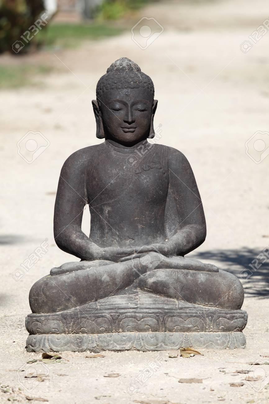 Black statue of the buddha Stock Photo - 11097452