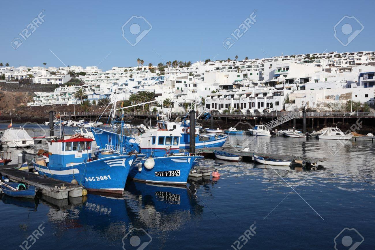 Fishing boats in Puerto del Carmen, Lanzarote Spain. Photo taken at 16th December 2011  Stock Photo - 11654414