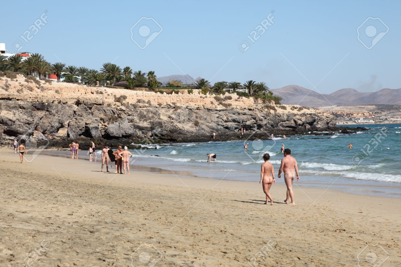 Nudist Beach On Canary Island Fuerteventura Spain Photo Taken At 21st Of December 2011